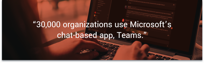 30,000 organizations use Microsoft's chat-based app, Teams. — Beta News