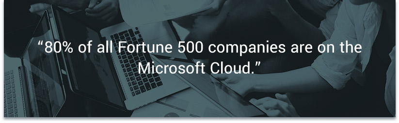 80% of all Fortune 500 companies are on the Microsoft Cloud. — Expanded Ramblings